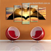 Gesture of Love Abstract Modern Framed Painting Picture Canvas Print for Room Wall Drape