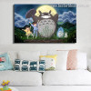 My Totoro Animated Kids Movie Modern Framed Portraiture Photograph Canvas Print for Room Wall Ornamentation