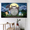 My Totoro Animated Kids Movie Modern Framed Portraiture Photograph Canvas Print for Room Wall Decoration