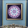 Gradient Mandala Abstract Modern Floral Framed Painting Photo Canvas Print for Room Wall Ornament