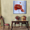 Reddish Flower Abstract Floral Oil Painting Image Canvas Print for Room Wall Decoration