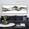 Fells Abstract Panoramic Contemporary Framed Effigy Picture Canvas Print for Wall Garnish