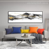 Fells Abstract Panoramic Contemporary Framed Effigy Picture Canvas Print for Wall Getup