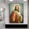 Jesus Christ Painting Canvas Print for Office Wall Decoration