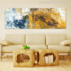 Abstract Blue Yellow Painting Print for Home Wall Decor