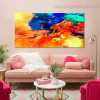 Colorful Clouds Abstract Landscape Modern Framed Artwork Image Canvas Print for Room Wall Outfit