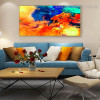 Colorful Clouds Abstract Landscape Modern Framed Artwork Image Canvas Print for Room Wall Getup
