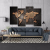 Dark Map Abstract Modern Framed Painting Image Canvas Print for Room Wall Getup