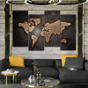 Dark Map Abstract Modern Framed Painting Image Canvas Print for Room Wall Outfit