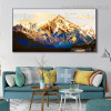 Golden Mountain Bird Landscape Framed Painting Picture Canvas Print for Room Wall Garnish