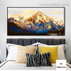 Golden Mountain Bird Landscape Framed Painting Picture Canvas Print for Room Wall Outfit