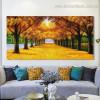Golden Arbors Botanical Landscape Framed Portrayal Pic Canvas Print for Room Wall Decor