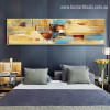 Chromatic Strokes Large Abstract Modern Framed Smudge Picture Canvas Print for Room Wall Finery