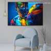 Colorful Lovers Abstract Figure Contemporary Framed Painting Photo Canvas Print for Room Wall Decor