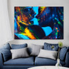 Dapple Kiss Abstract Figure Contemporary Framed Portraiture Picture Canvas Print for Room Wall Onlay