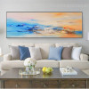 Motley Clouds Abstract Panoramic Modern Framed Portraiture Image Canvas Print for Room Wall Getup