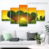 Green Heart Botanical Nature Modern Framed Effigy Picture Canvas Print for Room Wall Finery