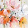Abstract Watercolor Pink Yellow Poppy Flowers Painting Print