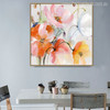 Abstract Watercolor Pink Yellow Poppy Flowers Painting Print for Wall Decor