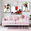 Motley Anuran Animal Modern Framed Smudge Picture Canvas Print for Room Wall Outfit