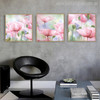 Abstract Pink Poppy Flowers Watercolor Painting Print for Room Decor