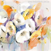 Abstract Multicolor Poppy Flowers Painting Canvas Print