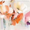 Abstract Watercolor Poppy Flowers Print