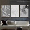 Abstract figures Geometric Modern Framed Painting Pic Canvas Print for Room Wall Adornment