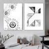 Angles Abstract Geometric Modern Framed Portrayal Photo Canvas Print for Room Wall Getup