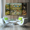 The Garden of Earthly Delights Painting Print for Dining Room