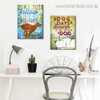 Dog Dreams Animal Floral Quote Modern Framed Painting Photo Canvas Print for Room Wall Moulding