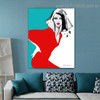 Lovely lady Abstract Modern Framed Painting Portrait Canvas Print for Room Wall Decoration