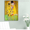 The Kiss Modern Painting Print Wall Art