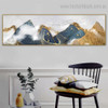 Foggy Mountain Landscape Modern Framed Painting Photo Canvas Print for Room Wall Disposition