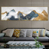 Foggy Mountain Landscape Modern Framed Painting Photo Canvas Print for Room Wall Drape