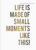 Moments Quote Nordic Painting Photo Canvas Print