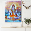 Indian God Shiva Wall Art Painting Print for Study Room Wall Art