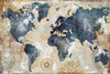 Globe Map Watercolor Painting Print