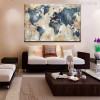 Globe Map Watercolor Painting Print for Living room