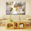 Earth Map Wall Decoration Watercolor Painting Print