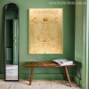The Vitruvian Man is a Drawing Print for Home Wall Art
