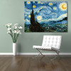 The Starry Night Painting Print for Living Room Decor