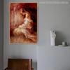 Half-Naked Girl Painting Print for Wall Decor