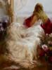 Repose Girl Watercolor Painting Print