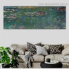 Water Lilies III Monet Panoramic Impressionist Framed Artwork Portrait Canvas Print for Room Wall Onlay
