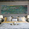 Water Lilies III Monet Panoramic Impressionist Framed Artwork Portrait Canvas Print for Room Wall Decoration