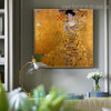Portrait of Adele Bloch Bauer I Gustav Klimt Reproduction Figure Framed Painting Photo Canvas Print for Room Wall Ornament