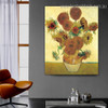 Sunflowers Van Gogh Reproduction Framed Painting Photo Canvas Print for Room Wall Outfit