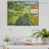 Carriage and Train Van Gogh Reproduction Framed Artwork Image Canvas Print for Interior Wall Decoration