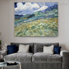 Landscape Saint Rémy Van Gogh Reproduction Framed Painting Image Canvas Print for Room Wall Adornment